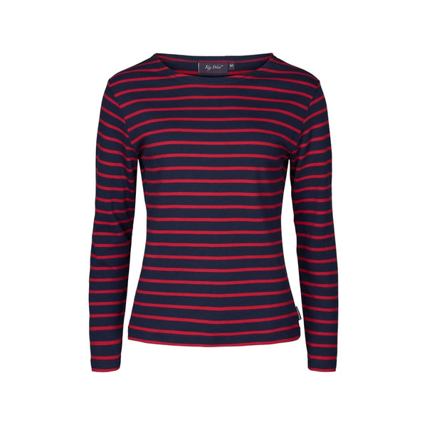 Antibes Striped Long Sleeve Tee - SR Navy / SR Red