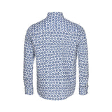 Ezes Printed Long Sleeve Shirt - White/SR Navy Flower