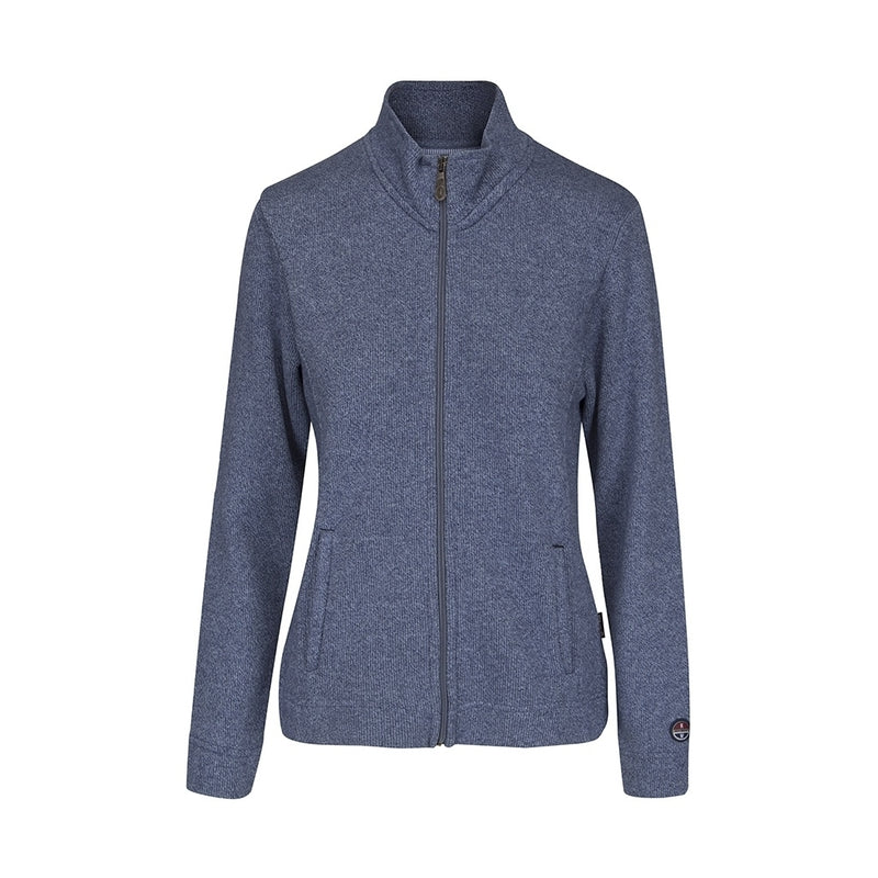 Tracy Long Sleeve Zip Cardigan - Lavender Blue