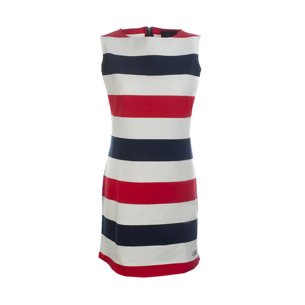 Brittany Striped Sleeveless Dress - SR Navy/Pearl/True Red