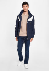 Jasper Jacket - Dark Navy / White