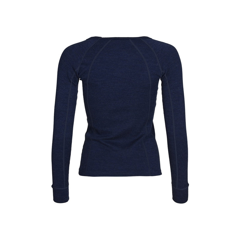 Womens Merino Wool Crew Neck - Navy