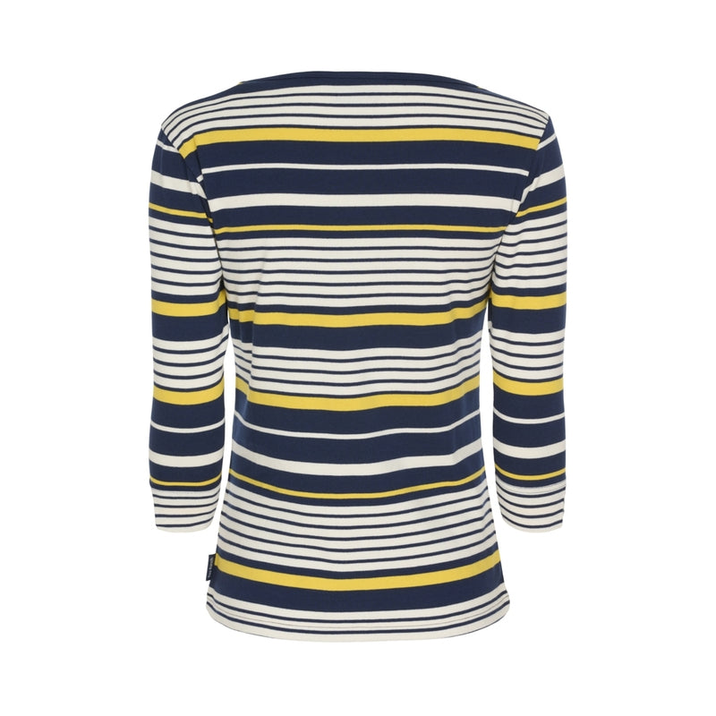 Dalia 3/4 length sleeve tee - SR Navy / Pearl / Yellow