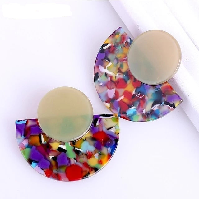 Art Deco Acrylic Style Earrings
