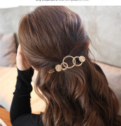 Golden Hair Clips