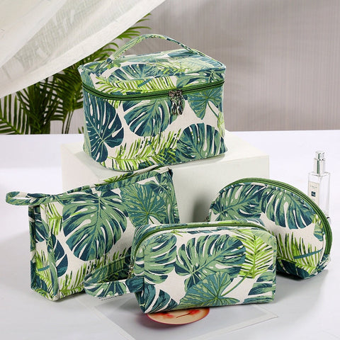 Palm Leaves Travel Cosmetic Bag