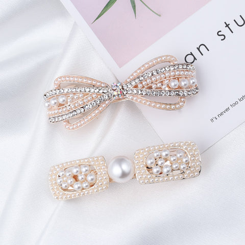 1pc Pearl & Crystal Hair Barrette