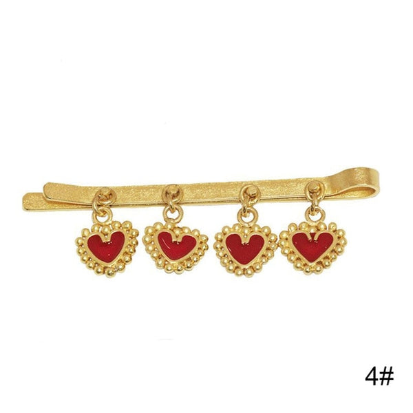 French Heart Evil Eye Collection Hair Clip Pins