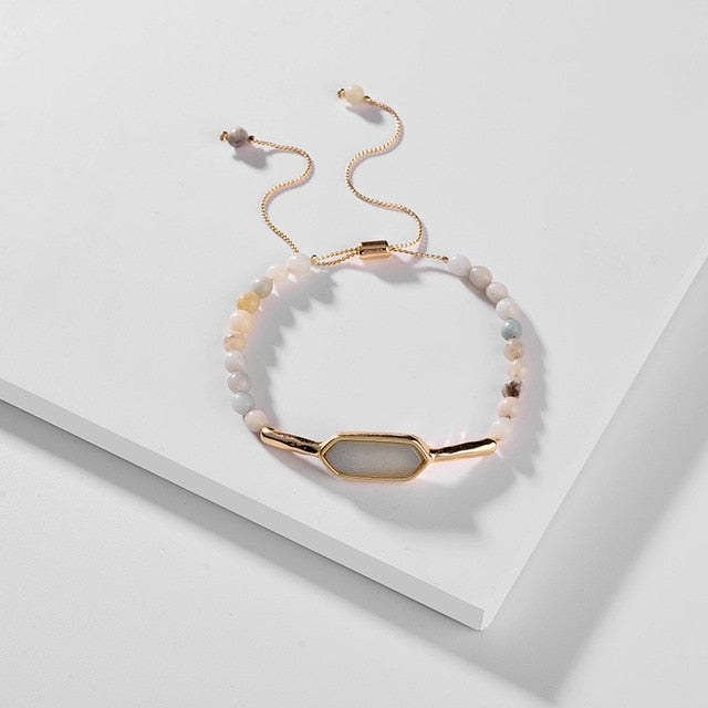Marble Stone Adjustable Bracelet