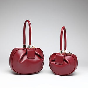 Belle Genuine Leather Bucket Handbag