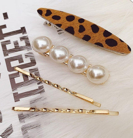 4 Piece Vintage Barrette Set