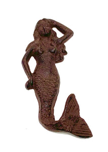 cast mermaid wall hook