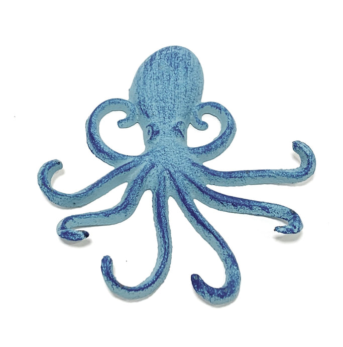 teal octopus wall hook
