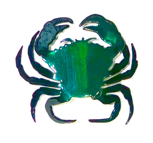blue/green steel crab