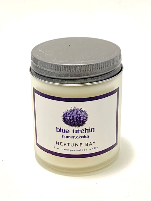 blue urchin neptune bay soy candle