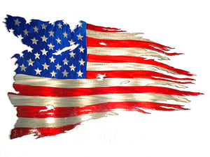 Metal art American Flag