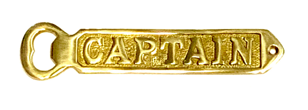 Captain Brass Bottle Opener
