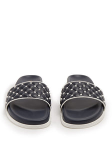 Free Rockstud leather slides