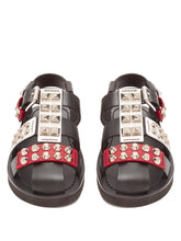 Load image into Gallery viewer, Stud-embellished leather sandals