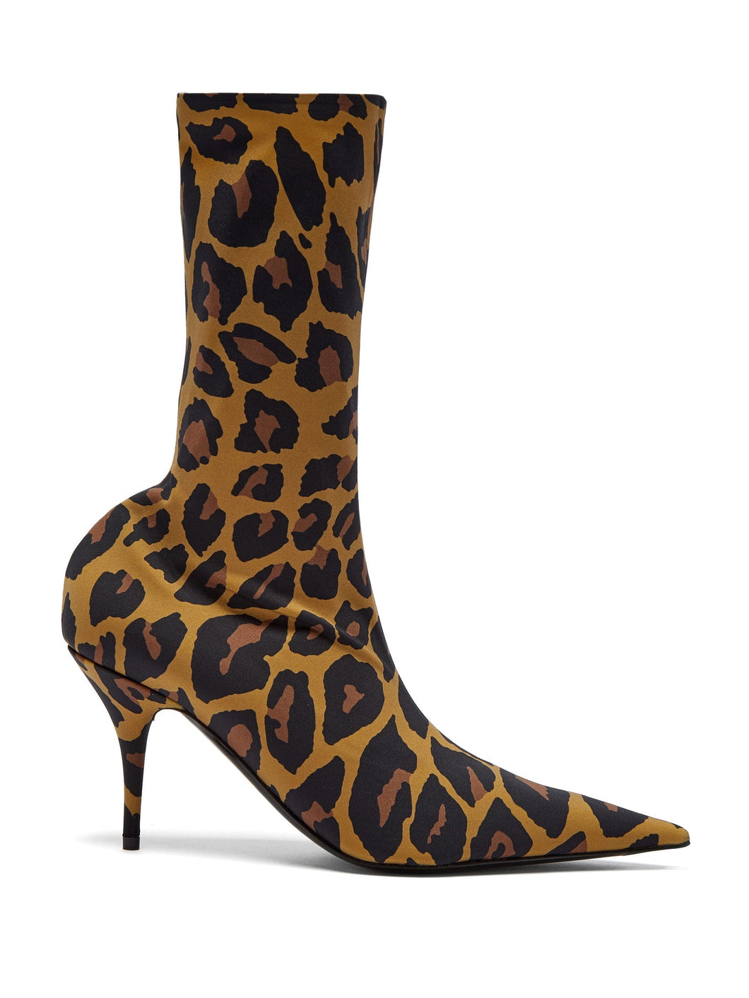 Knife leopard-print booties