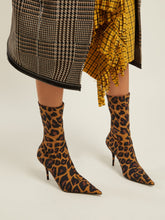 Load image into Gallery viewer, Knife leopard-print booties