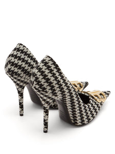 Houndstooth BB pumps