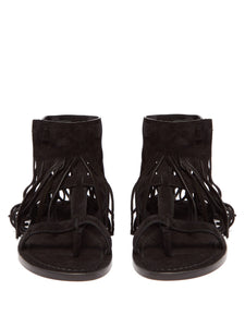 Nino suede fringed T-bar sandals