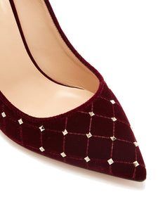 Rockstud Spike velvet point-toe pumps