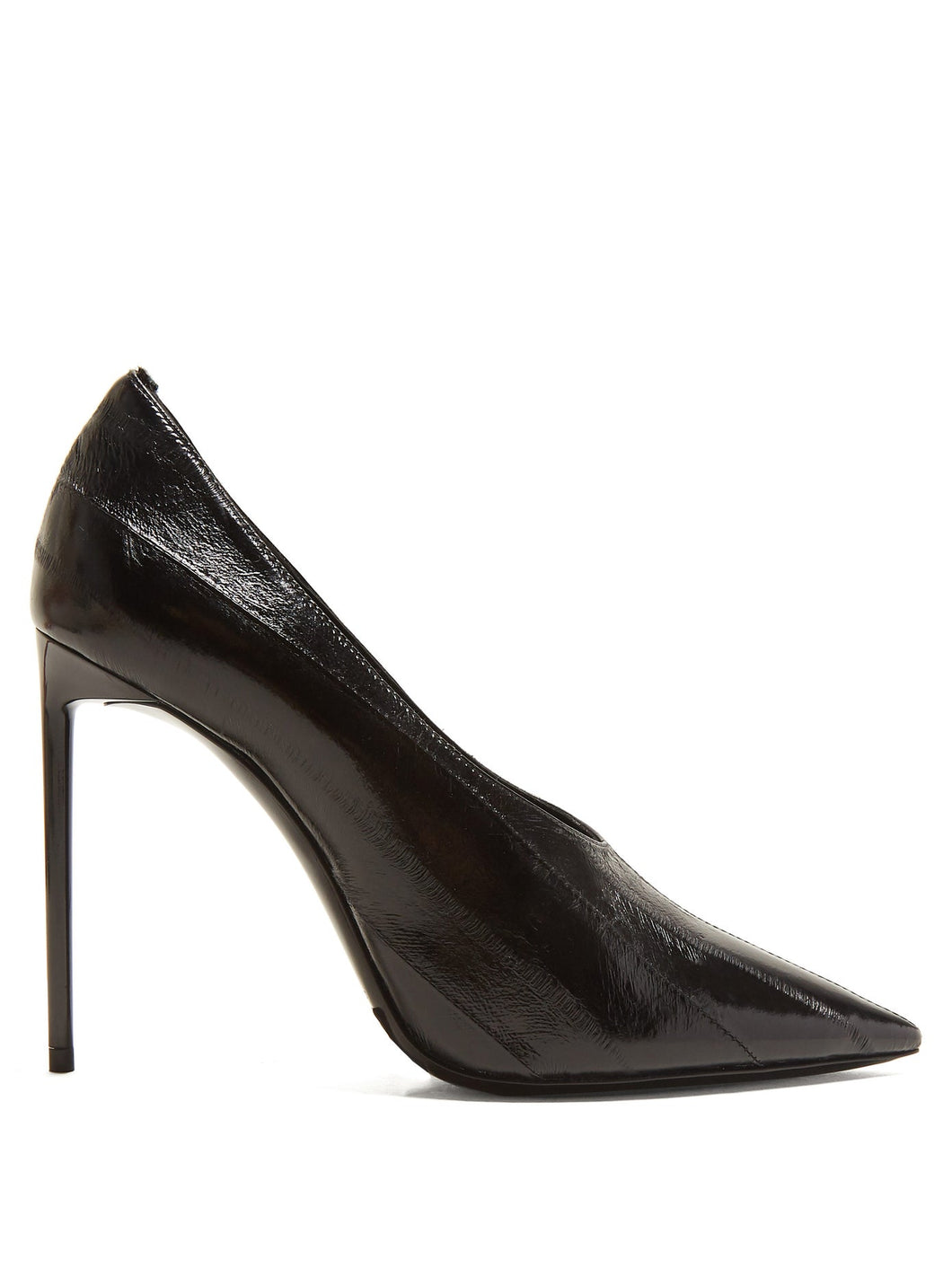 Teddy paneled leather pumps