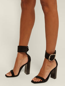 Loulou suede buckle sandals