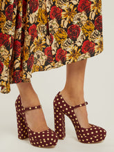 Load image into Gallery viewer, Polka-dot platform Mary-Jane pumps