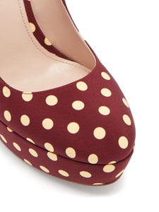 Polka-dot platform Mary-Jane pumps