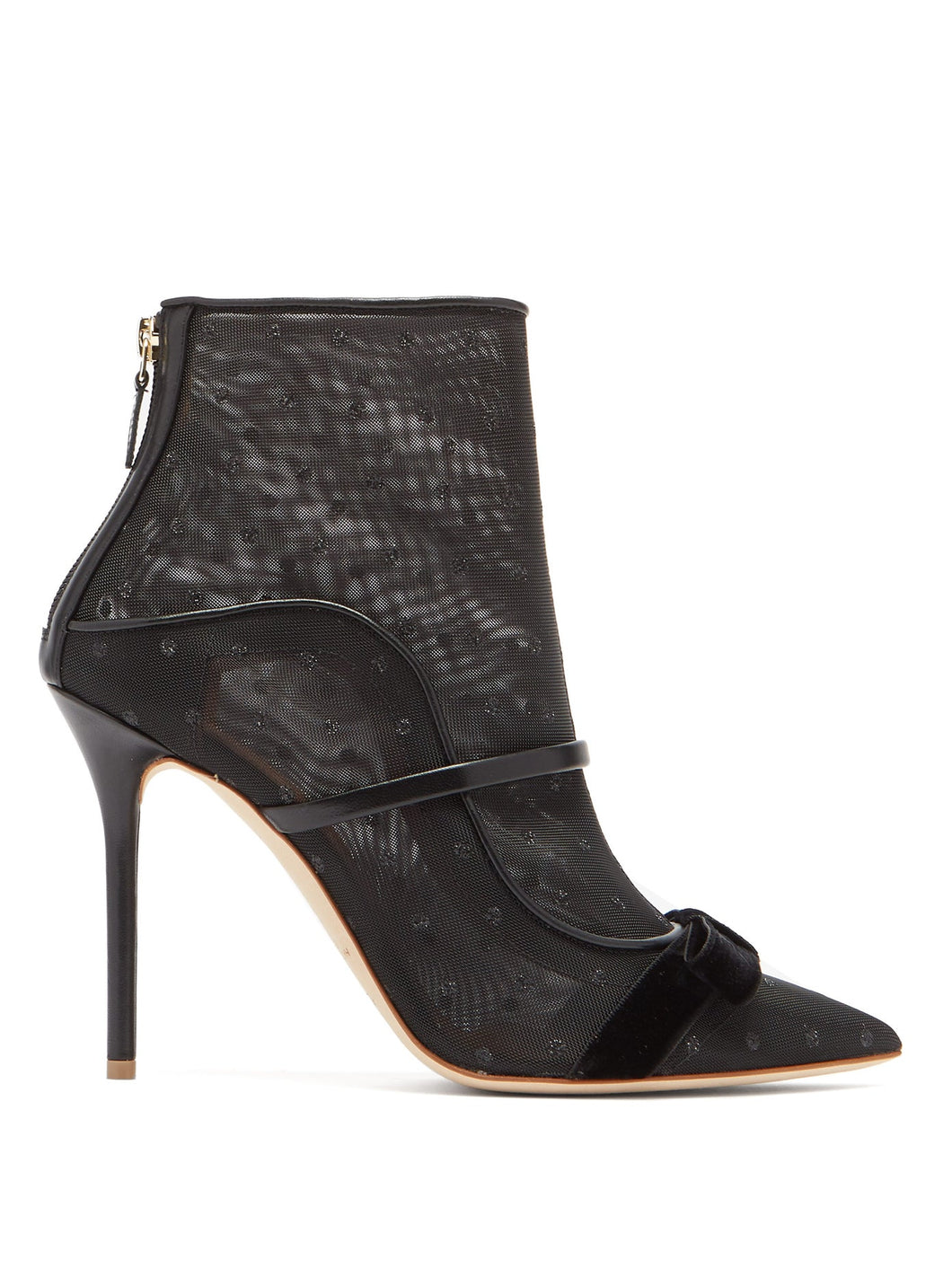 Claudia mesh and leather ankle boots