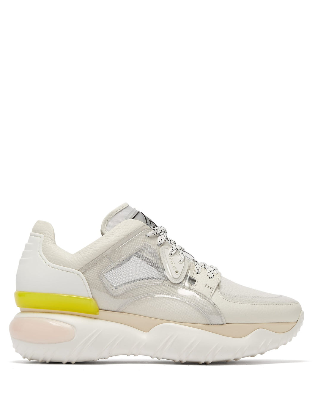 Contrast-panel low-top trainers