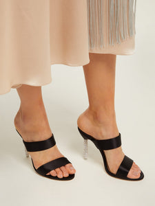 Rosalind crystal-embellished satin sandals