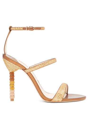 Rosalind crystal-embellished leather sandals