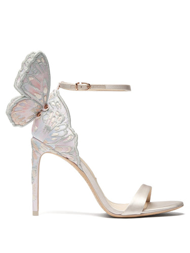 Chiara butterfly-wing leather stiletto sandals