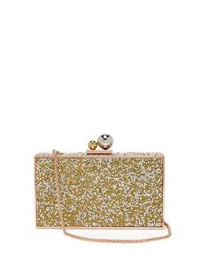 Clara crystal-embellished box clutch