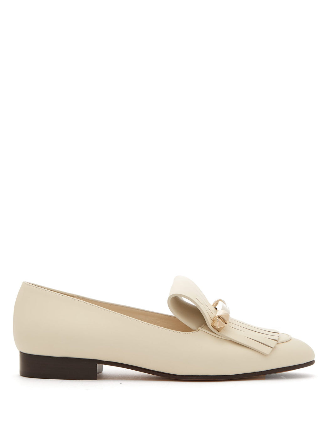 Uptown fringed leather loafers