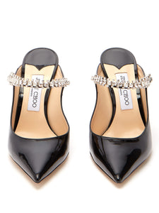 Bing 100 crystal-embellished leather mules