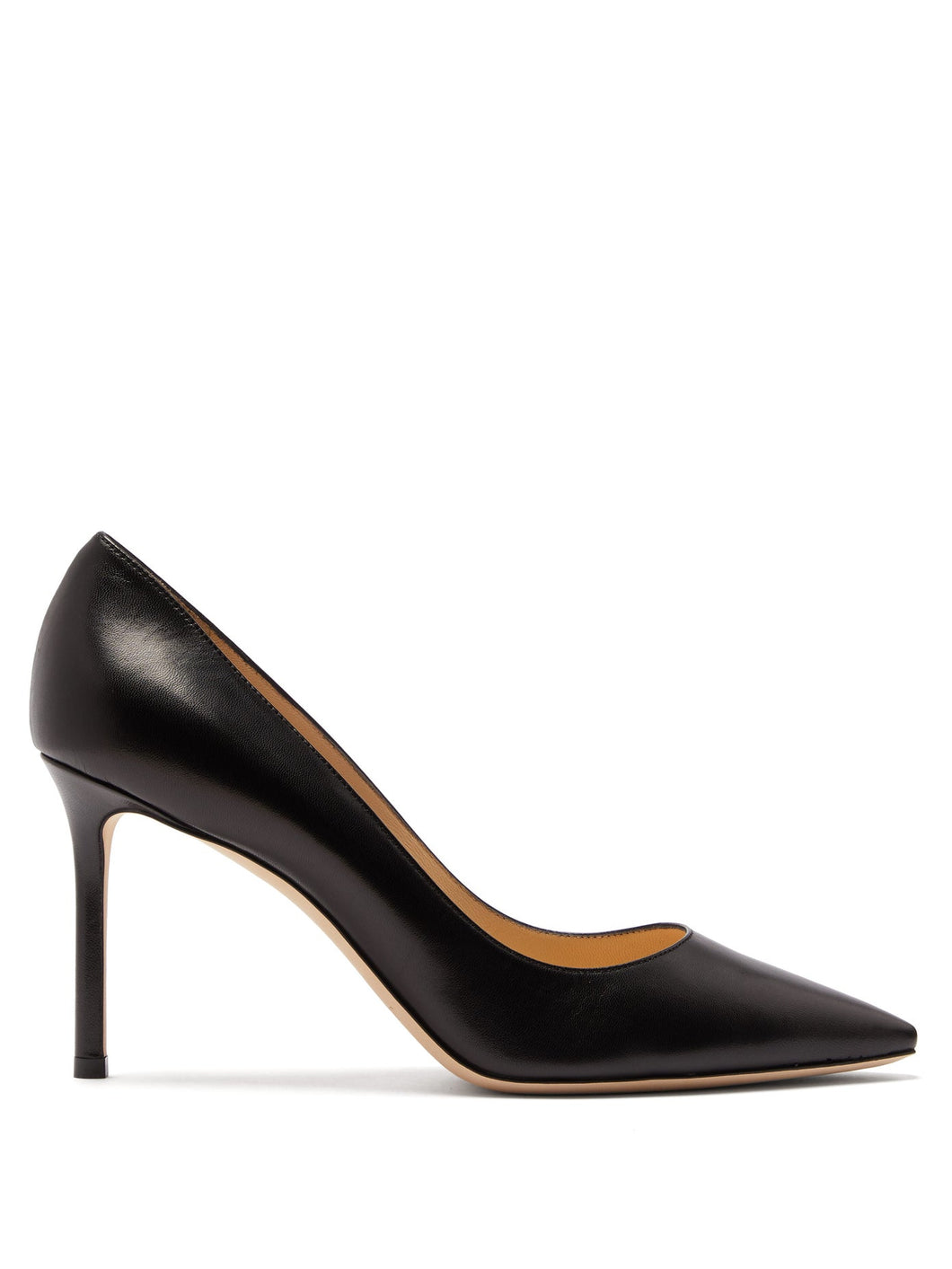 Romy 85 leather pumps