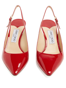 Erin 60 slingback patent-leather pumps