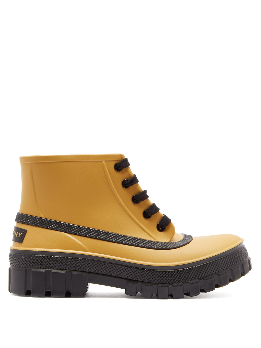 Glaston lace-up rubber rain boots
