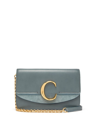 The C leather and suede shoulder bag