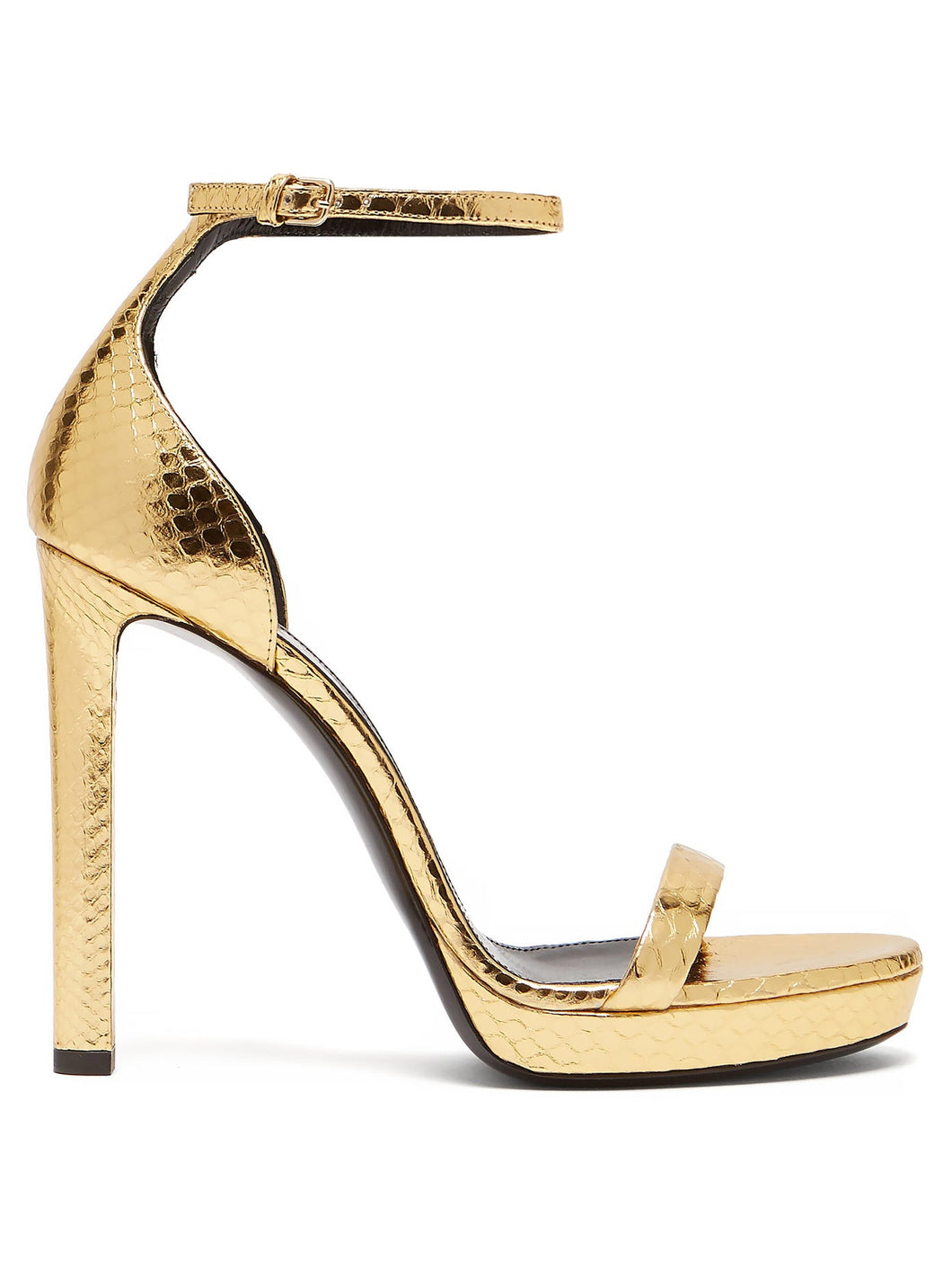 Hall 100 metallic snakeskin platform sandals
