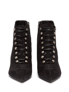 Ally lace-up suede ankle boots