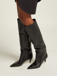 Charlotte 55 leather knee boots