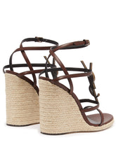 Load image into Gallery viewer, Logo-plaque espadrille wedge sandals