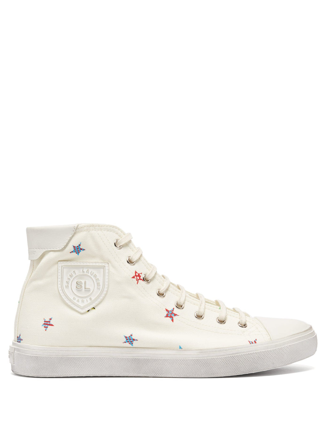 Bedford star-print canvas trainers