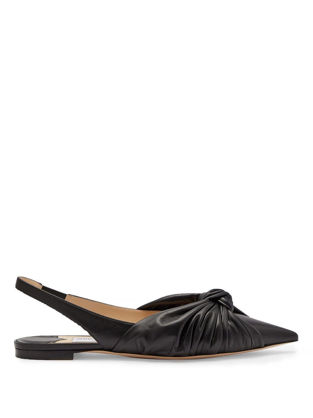 Annabelle knot-front leather slingback flats